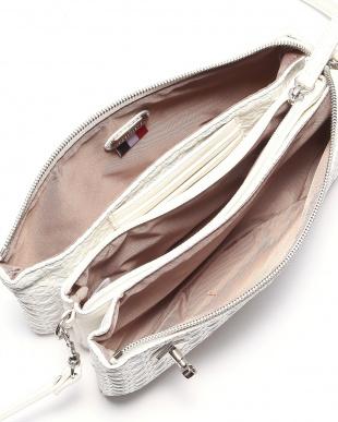ホワイト フレンチファブリック SAFECO クロスメッシュお財布ショルダーバッグを見る