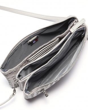 シルバー フレンチファブリック SAFECO クロスメッシュお財布ショルダーバッグを見る