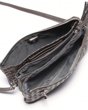 ガンメタ フレンチファブリック SAFECO クロスメッシュお財布ショルダーバッグを見る