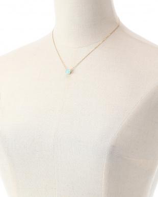 ブルー SV925 アクアカルセドニー ネックレスを見る