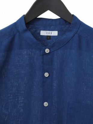ホワイト 【吸水速乾】イージーケアバンドカラ-7分袖シャツ[WEB限定サイズ] a.v.v HOMMEを見る