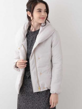 アイボリー 【洗える】ボリュームカラー中綿ショートジャケット OFUONを見る