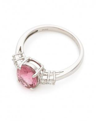 プラチナ PT900 ピンクトルマリン ダイヤモンド リングを見る