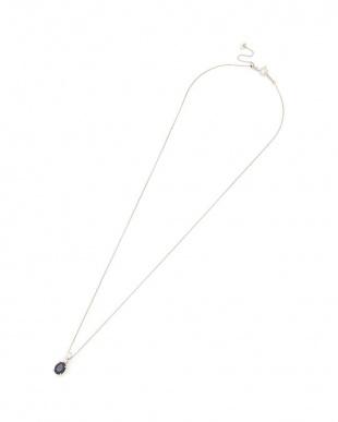 プラチナ PT ロイヤルブルーサファイヤ ダイヤモンド ネックレスを見る