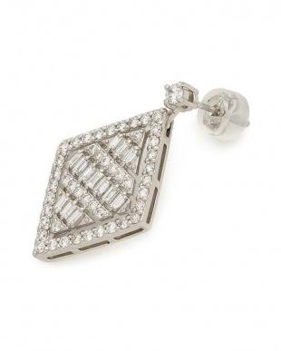 プラチナ PT900 ダイヤモンド ピアスを見る