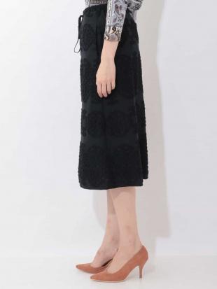 ブラック 【洗える・日本製】ファブリックコラージュスカート GIANNI LO GIUDICEを見る