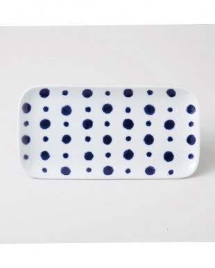 藍染水玉 長角皿 5個セットを見る
