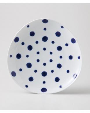 藍染水玉 変形多用皿 5個セットを見る