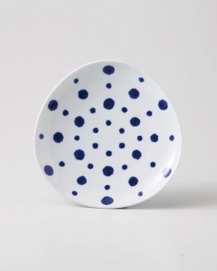 藍染水玉 変形取皿 5個セットを見る