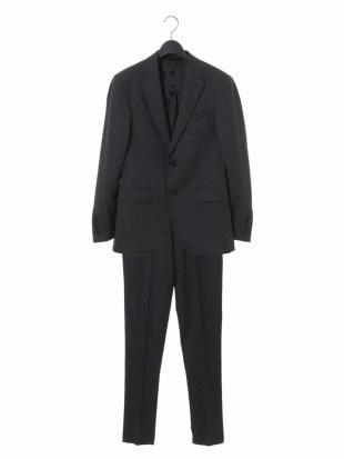 グレー スーツ(SHINY STRETCH グレンチェック) MICHEL KLEIN HOMMEを見る