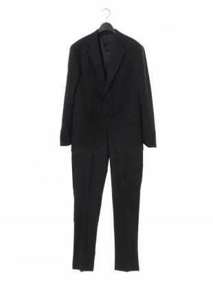ブラック スーツ(SHINY STRETCH ドビー) MICHEL KLEIN HOMMEを見る