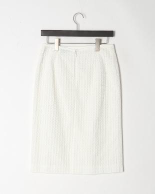 ホワイト ミニブロックエンブロイダリー スカートを見る