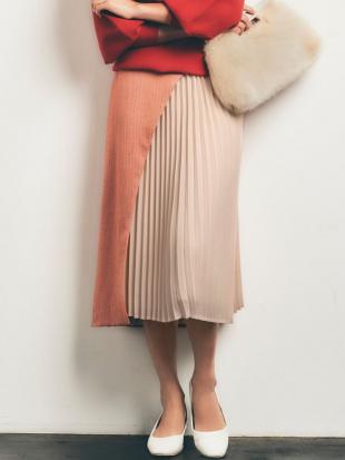 オレンジ 【COLLABORATION】LADYヘリンボーンスカート LAGUNAMOONを見る