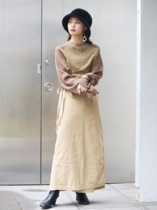 ベージュ ミリタリーラップスカート Ungridを見る
