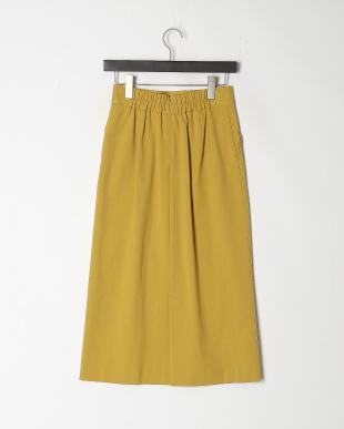 カラシ ミディ丈セミタイトスカートを見る