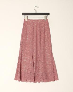 ピンク 《Maglie WHITE》コードレースマーメイドスカートを見る