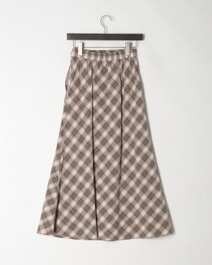 グリーン 《musee》チェックフレアスカートを見る