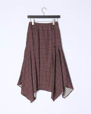 チャ 《musee》オーバーチェックプリントスカートを見る