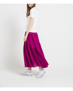 ピンク 変形ギャザースカートを見る