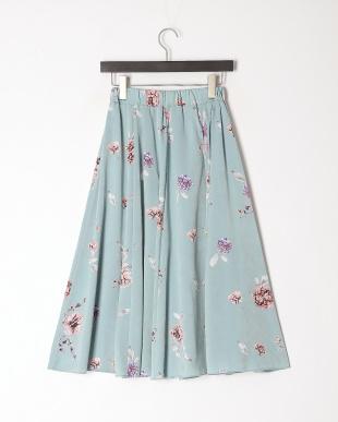 サックス 花柄スカートを見る