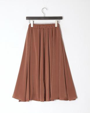 スモークブラウン サテンフレアスカートを見る