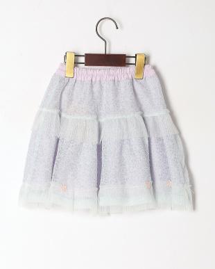 ブルー シァーフラワースカートを見る