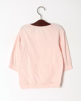 ピンク ストロベリープリント七分袖Tシャツを見る