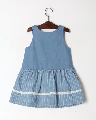 ブルー デニムジャンパースカートを見る