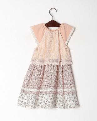 ピンク パッチワークジャンパースカートを見る