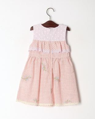 ピンク フラワー刺繍ジャンパースカートを見る