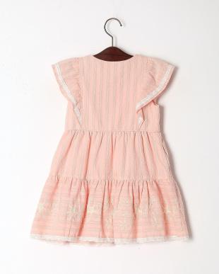 ピンク フラワーステッチジャンパースカートを見る