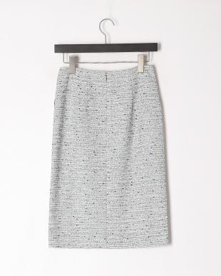 紺系 T/Cファンシーツィードスカートを見る