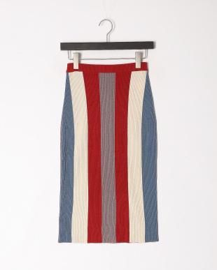 062 マルチカラーニットスカートを見る