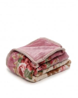ピンク 日本製合わせ毛布ダブルを見る