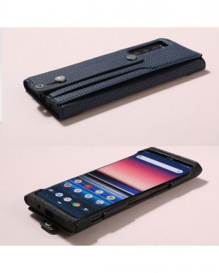 ブラック clings  Slim Hand Strap Case fo Xperia5を見る