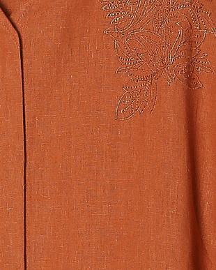 オレンジ リネン刺繍チュニックを見る