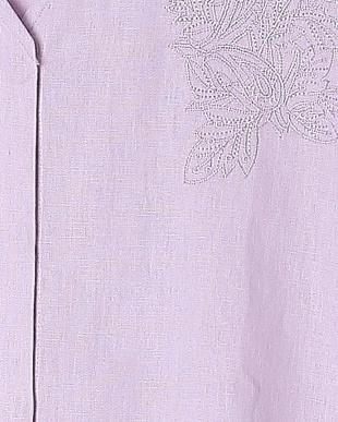 ライトパープル リネン刺繍チュニックを見る