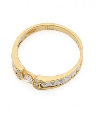 イエローゴールド/プラチナ K18YG/PT900 ダイヤモンド (0.20ct)リングを見る
