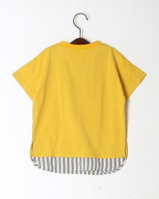 イエロー レイヤードライクドロップスリーブTシャツを見る