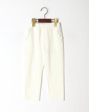 ホワイト ポケットフリルパンツを見る