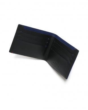 ブラック/ブルー レザー 2つ折り財布 BILLFOLD 7CC SLIM BLACK/BLUEを見る