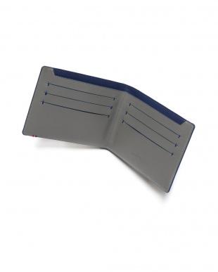 グレー/ブルー レザー カードケース BILLFOLD 7CC SLIM GREY/BLUEを見る