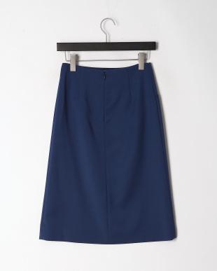 ブルー ダブルクロスアシンメトリースカートを見る