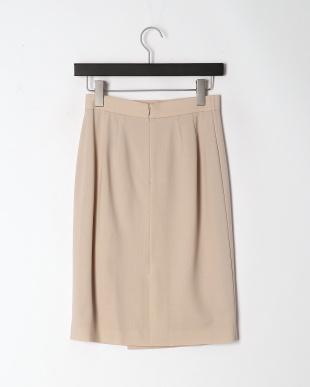 ベージュ ウールジョーゼットタイトスカートを見る
