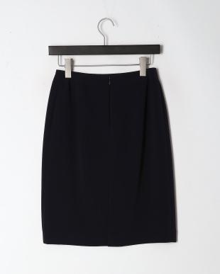 ネイビー ダブルクロスタイトスカートを見る