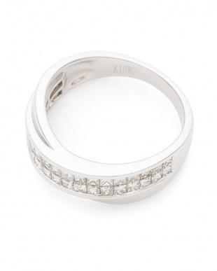 ホワイトゴールド 18WG ダイヤモンド0.85ct インビジブルセッテイング リングを見る