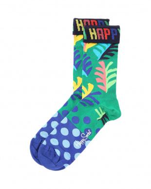 41/65/68/12/90 Big Dot Sock/Stripes And Dots Sock/Big Leaf Sock/Soda Sock/定番_Thumbs Up Sockを見る