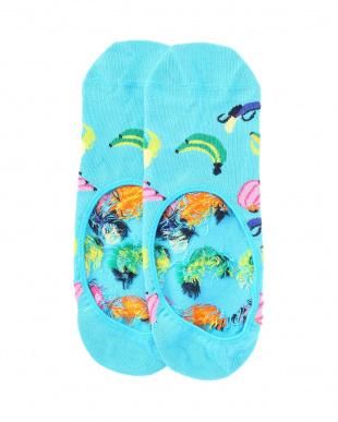 98/98/64/98/13 Strawberry Low Sock/Optic Dot Low Sock/Banana Liner Sock/Hula Liner Sock/Athletic_Happy Pique Cuff Low Sockを見る