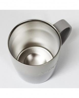 真空断熱ステンレスマグカップ<エアゼロ>300mL グラデグレーを見る