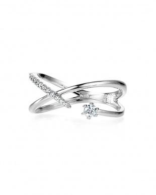 プラチナ H&Cダイヤモンド デザインリングを見る